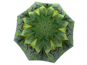 Designer Rain Umbrella with gift box Green Flower