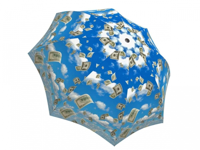 Rain umbrella with gift box - Raining Money