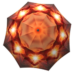 Designer umbrella with gift box Love at Sunset