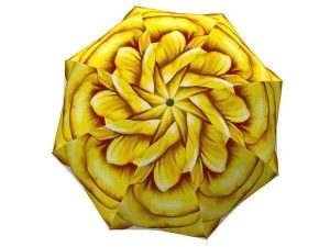Designer Rain Umbrella with gift box Yellow Flower