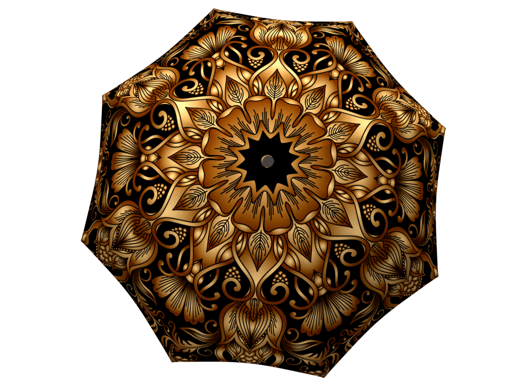Umbrella with gift box Gold Floral Ornament