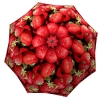 Designer umbrella with gift box Strawberries