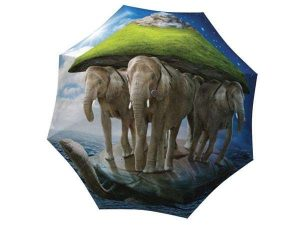 Designer Rain Umbrella with gift box Elephants