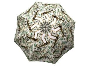 Designer Rain Umbrella with gift box Money Collage