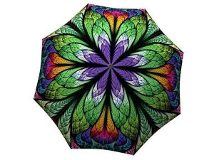 Designer Rain Umbrella with gift box Peacock