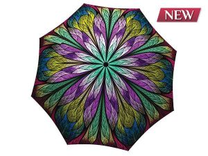 Unique umbrella with gift box - Dragonfly Stained Glass