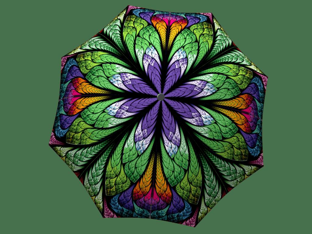 Umbrella with gift box Peacock
