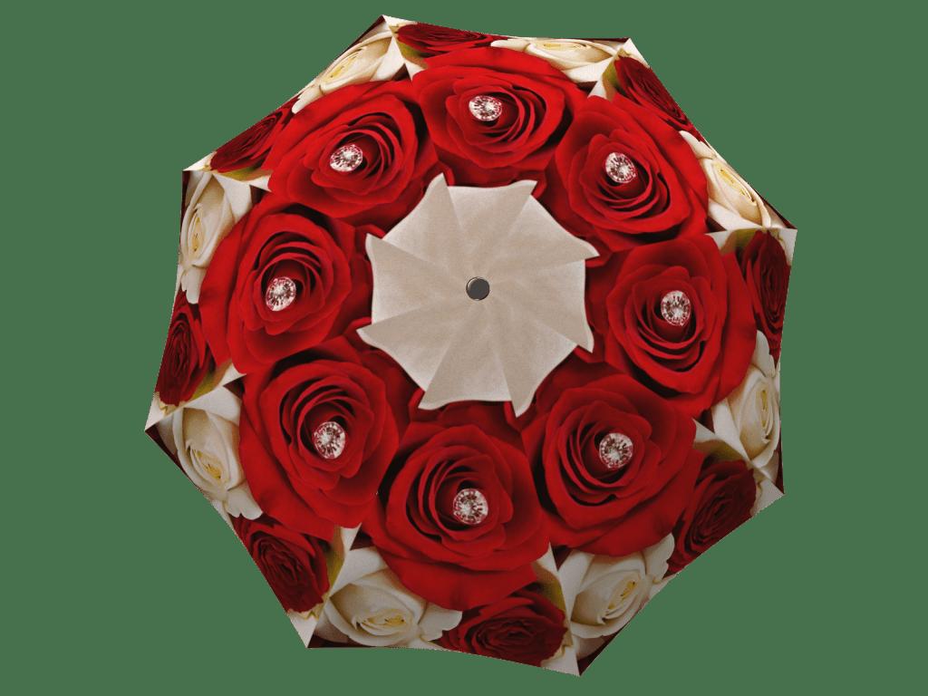 Umbrella with gift box Wedding Roses