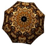 Designer umbrella with gift box Gold Floral Ornament