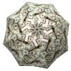 Designer umbrella with gift box Money Collage