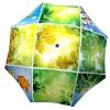 Designer umbrella with gift box Spring Collage