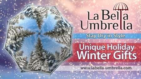 Winter and other designer umbrella on sale from La Bella Umbrella