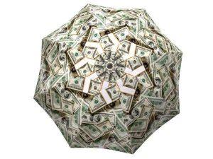 Designer Rain Umbrella with gift box Money Collage