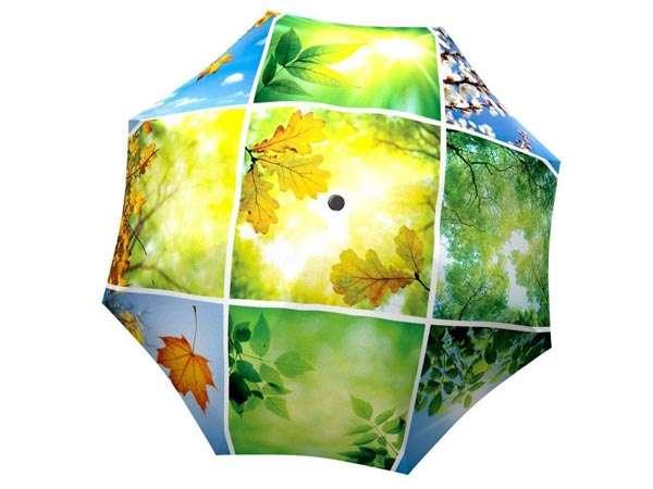 Designer Rain Umbrella with gift box Spring Collage