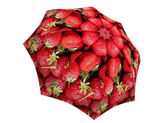 Rain umbrella with gift box - Strawberries