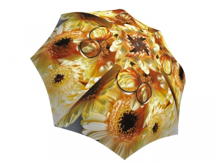 Rain umbrella with gift box - Sunflower Wedding