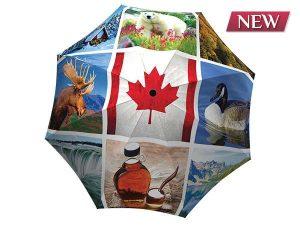 Unique umbrella with gift box Canadian Collage