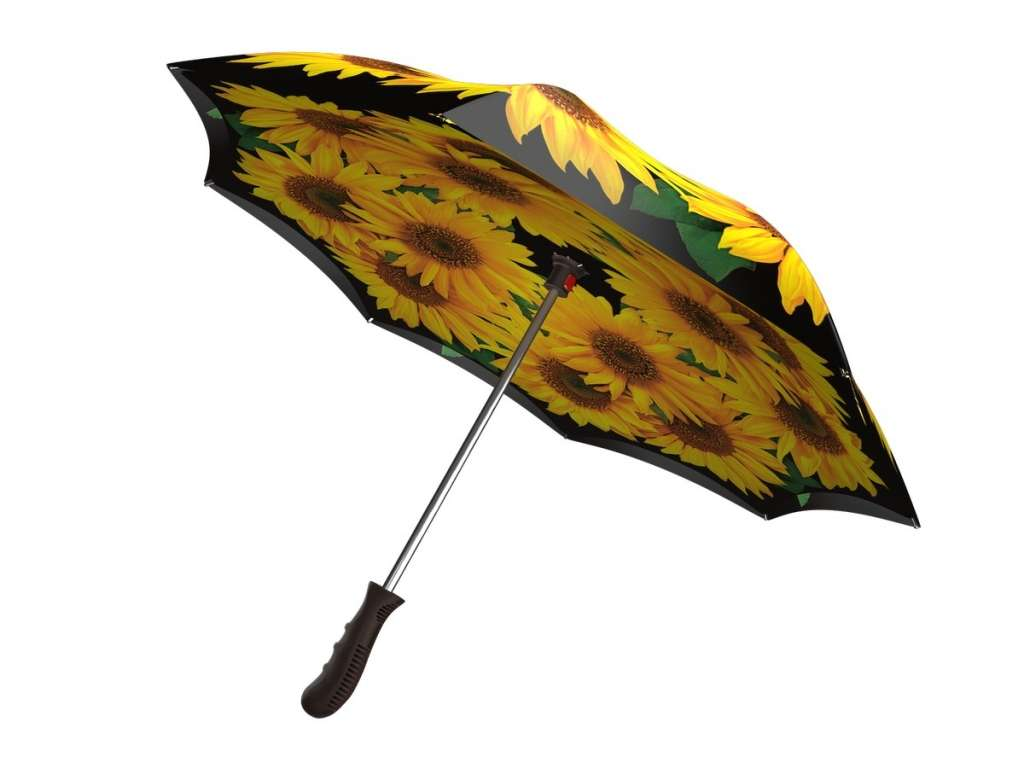 Upside down umbrella - Sunflowers