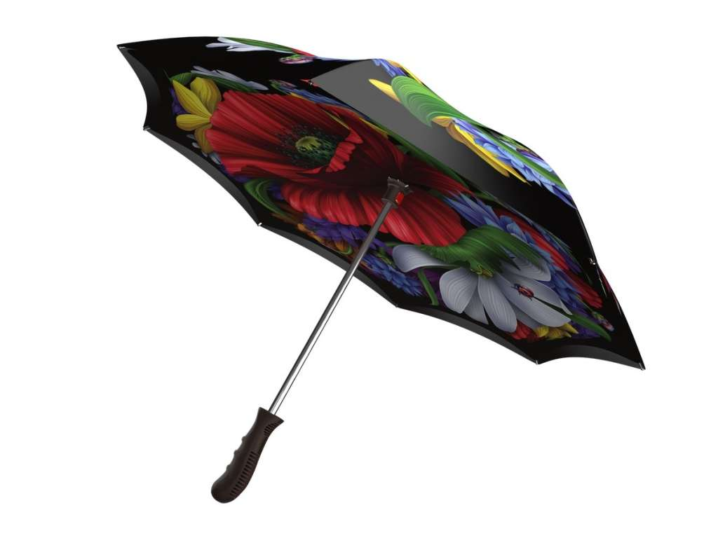 Upside down umbrella - Wild Poppies