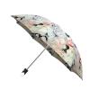 Good quality folding rain umbrella with gift box White Roses