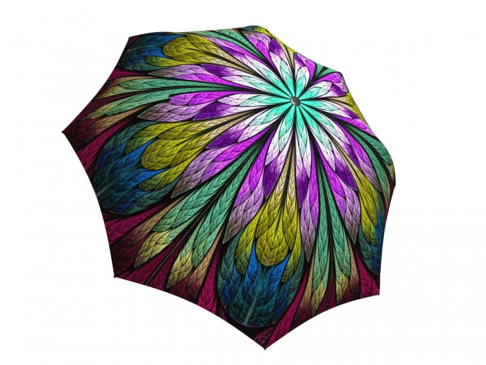 Rain umbrella with gift box - Dragonfly Stained Glass