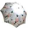 Rain umbrella with gift box - White Roses